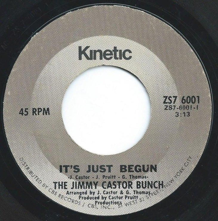 THE JIMMY CASTOR BUNCH / IT'S JUST BEGUN / PUT A LITTLE LOVE IN YOUR HEART (7