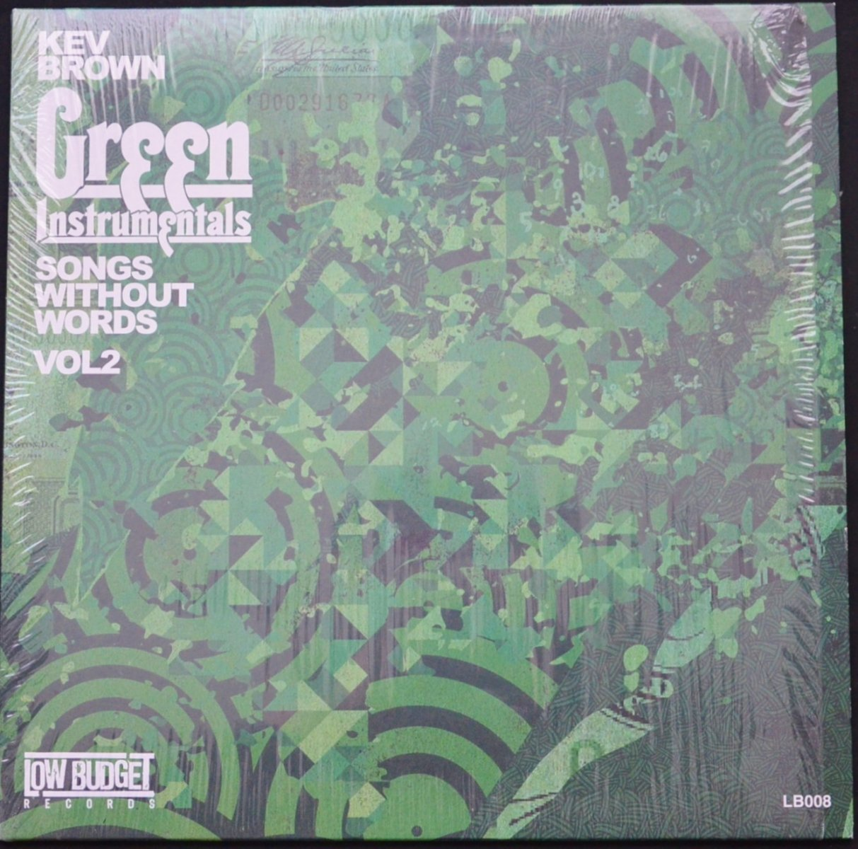 KEV BROWN ‎/ SONGS WITHOUT WORDS VOLUME 2 (GREEN INSTRUMENTALS) (1LP)