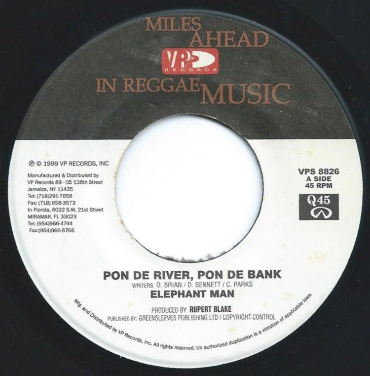 ELEPHANT MAN ‎/ PON DE RIVER, PON DE BANK (7