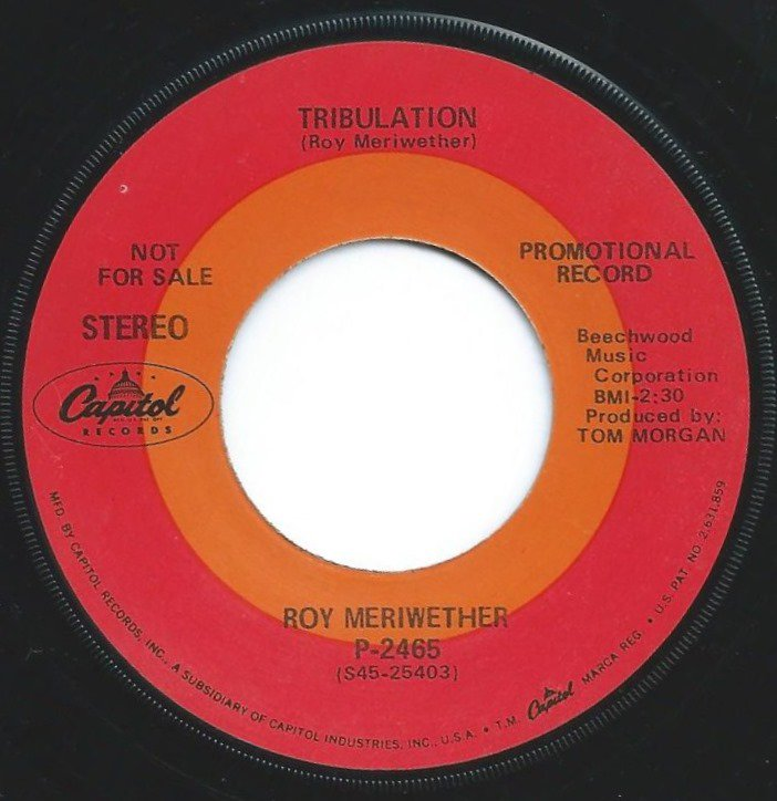 ROY MERIWETHER / TRIBULATION / THEME FROM CANTERBURY TALES (7