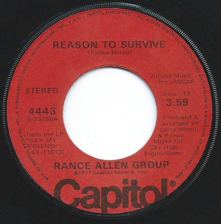 RANCE ALLEN GROUP / REASON TO SURVIVE / GOT TO BE READY (7