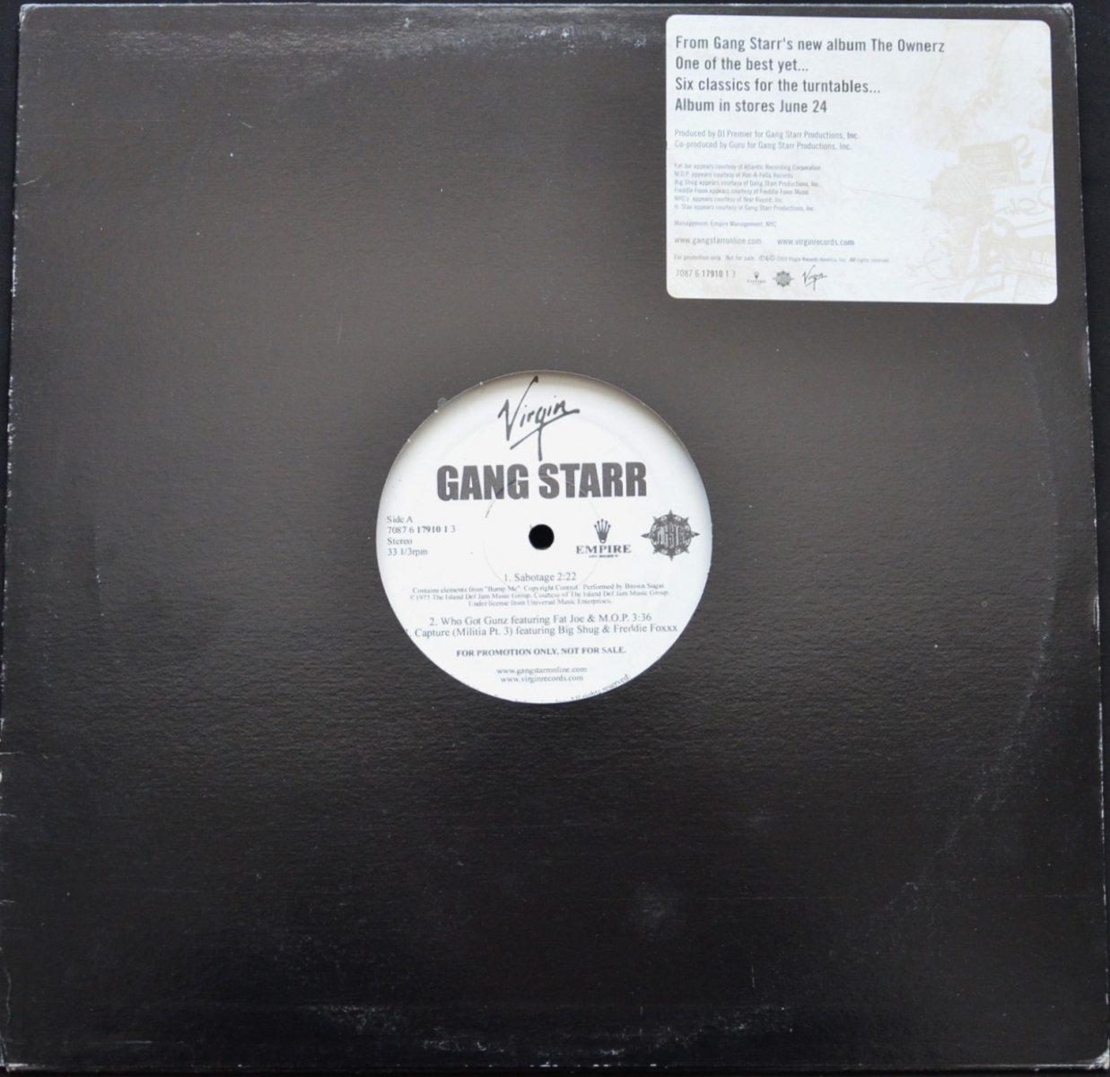 GANG STARR / THE OWNERZ - PROMO SAMPLER (12