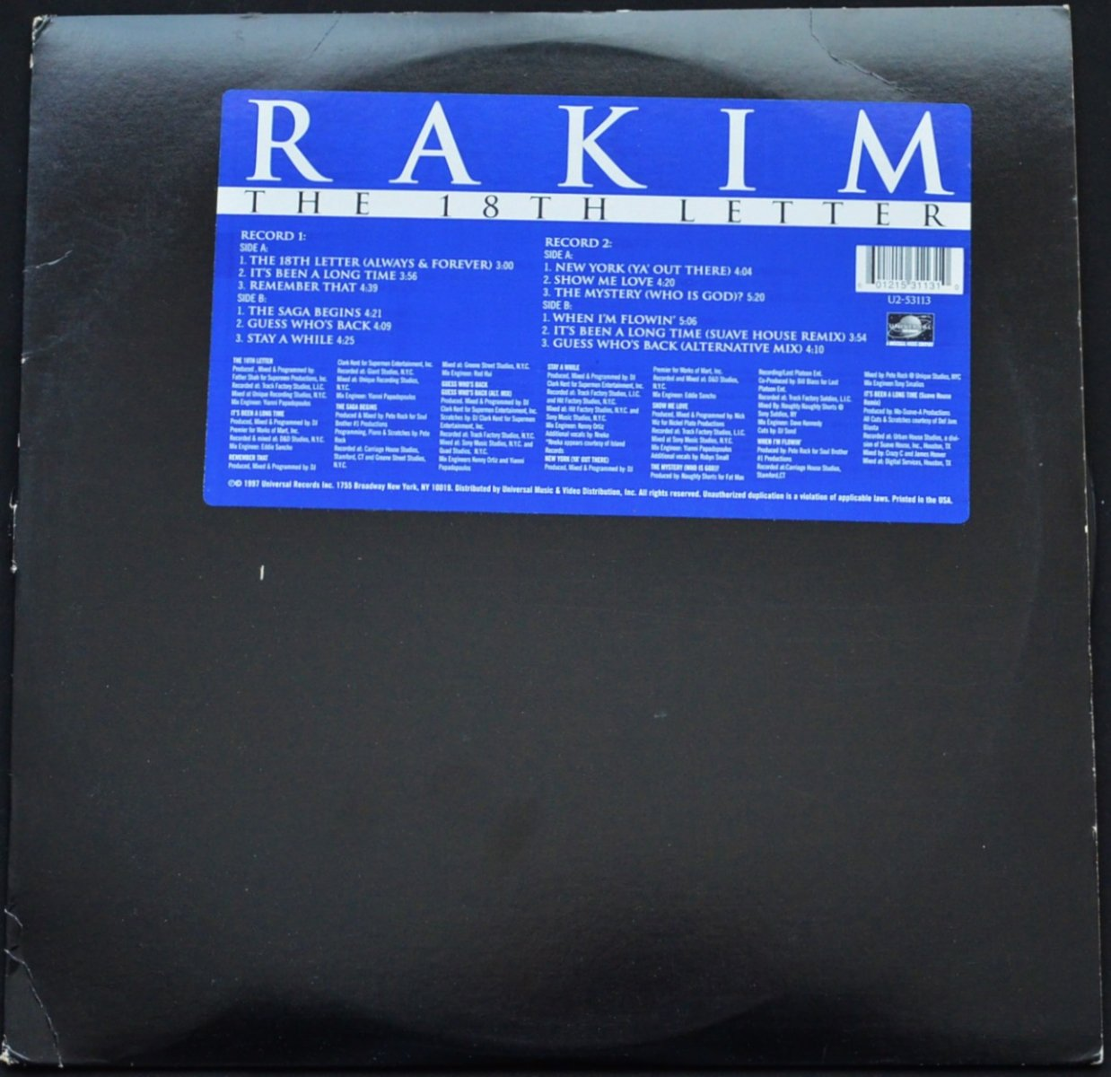 RAKIM / THE 18TH LETTER (2LP)