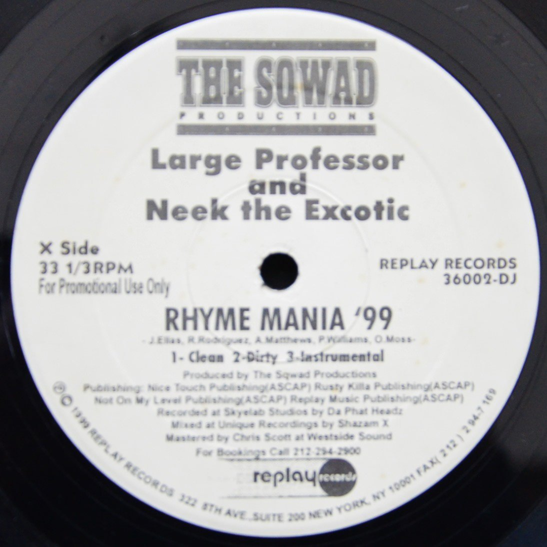 LARGE PROFESSOR & NEEK THE EXOTIC / MASTA ACE ‎ RHYME MANIA '99 / NY CONFIDENTIAL (12