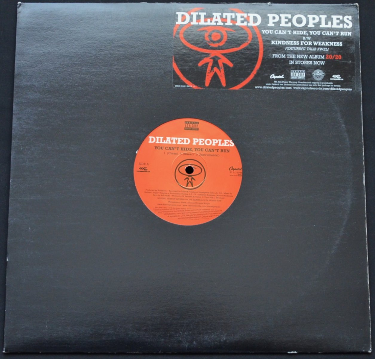 DILATED PEOPLES / YOU CAN'T HIDE, YOU CAN'T RUN / KINDNESS FOR WEAKNESS (PROD BY EVIDENCE) (12