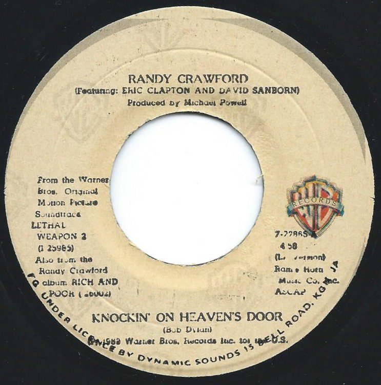 RANDY CRAWFORD FEATURING ERIC CLAPTON AND DAVID SANBORN ‎/ KNOCKIN' ON HEAVEN'S DOOR (7