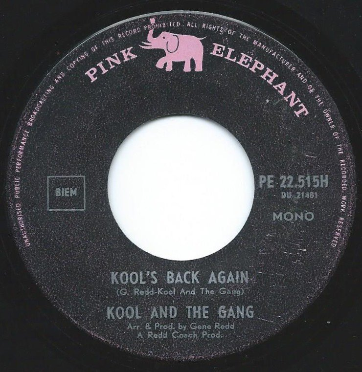 KOOL & THE GANG / KOOL'S BACK AGAIN / THE GANG'S BACK AGAIN (7