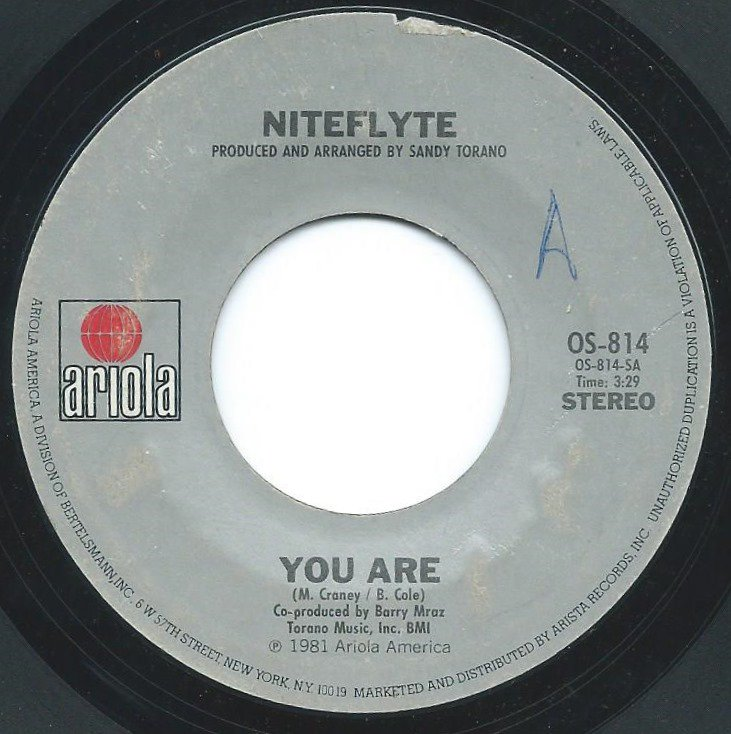 NITEFLYTE / YOU ARE / ALICIA'S SONG (7