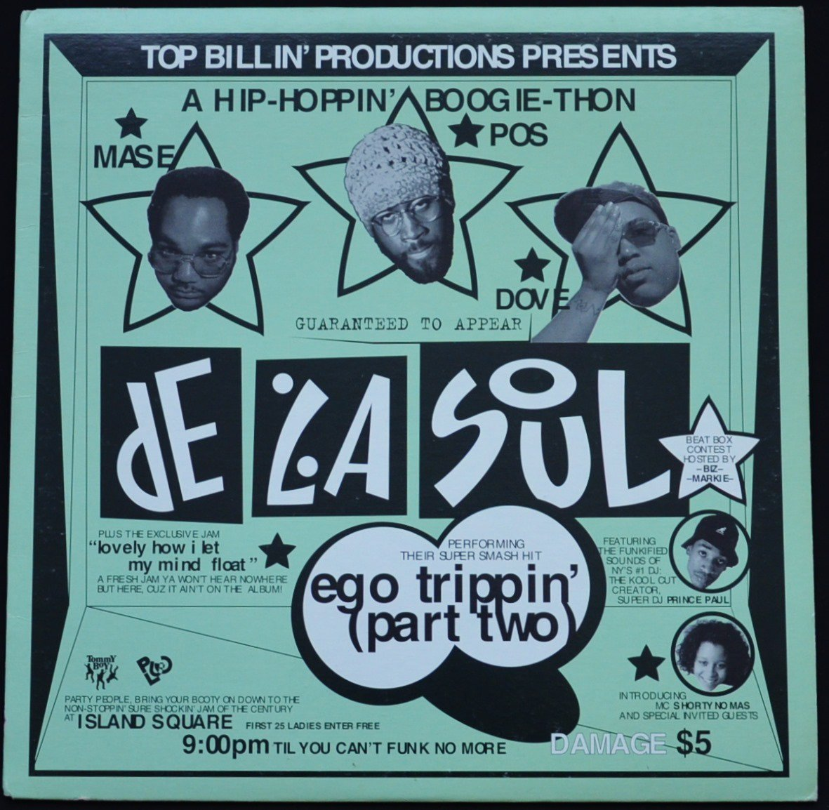 DE LA SOUL ‎/ EGO TRIPPIN' (PART TWO) / LOVELY HOW I LET MY MIND FLOAT (FEAT.BIZ MARKIE) (12