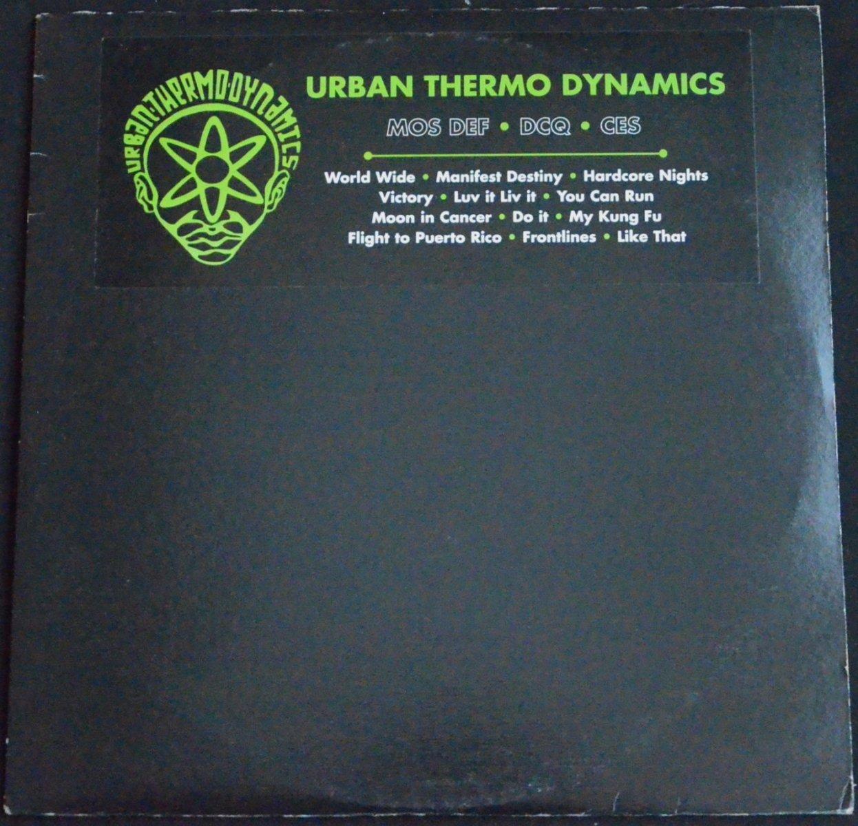 U.T.D. (URBAN THERMO DYNAMICS) / URBAN THERMO DYNAMICS (MOS DEF,DCQ,CES) (2LP)
