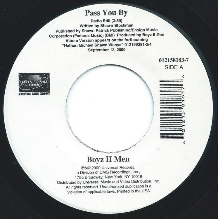 BOYZ TO MEN / PASS YOU BY (7