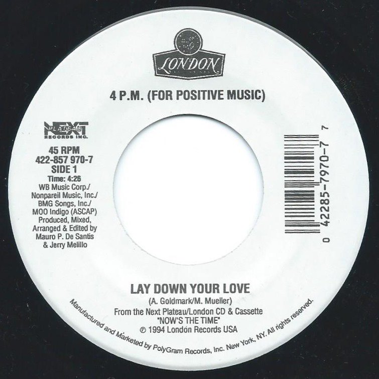 4 P.M. (FOR POSITIVE MUSIC) ‎/ LAY DOWN YOUR LOVE / SUKIYAKI (7