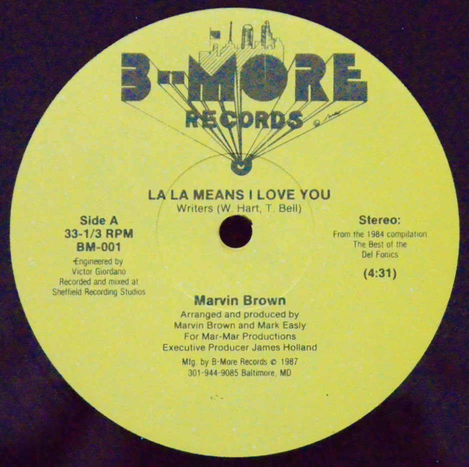MARVIN BROWN / LA LA MEANS I LOVE YOU (12