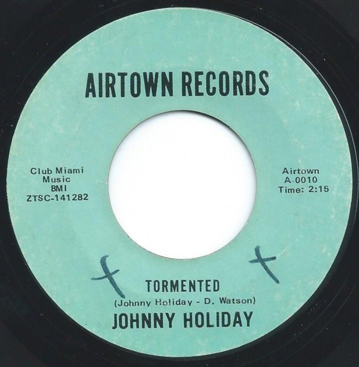 JOHNNY HOLIDAY / TORMENTED / MERCY, MERCY, MERCY ON ME (7