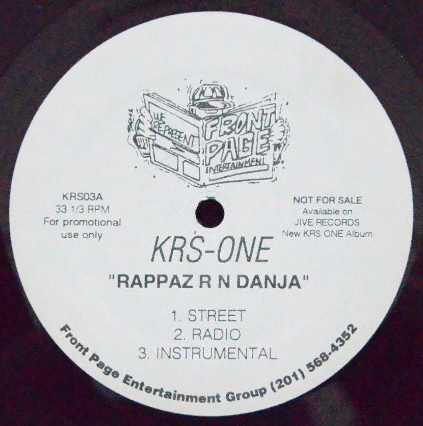 KRS-ONE ‎/ RAPPAZ R N DANJA / WANNA-BE-MCEEZ (PROD BY DJ PREMIER) (12