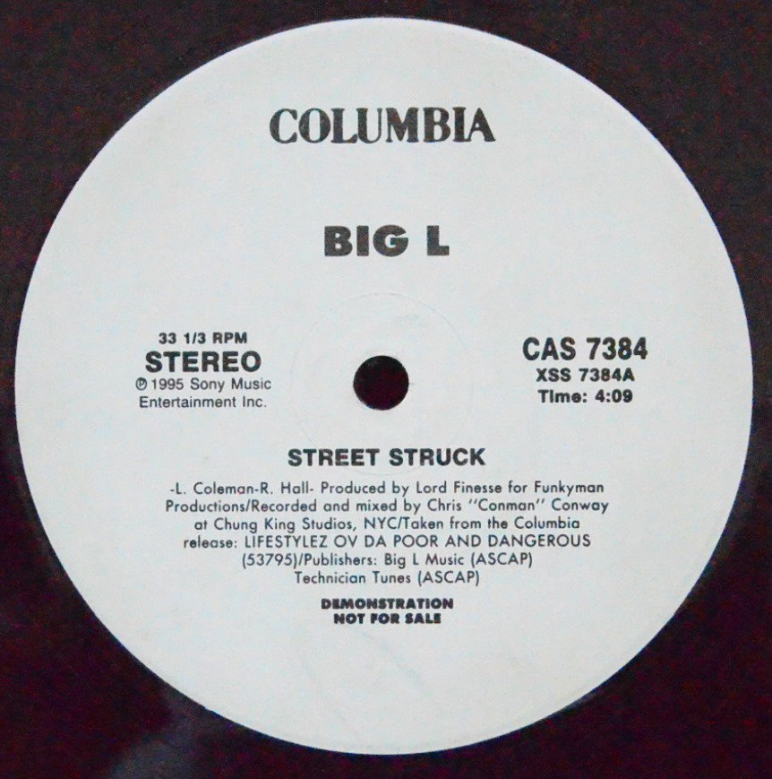 BIG L ‎/ STREET STRUCK (PROD BY LORD FINESSE) (12