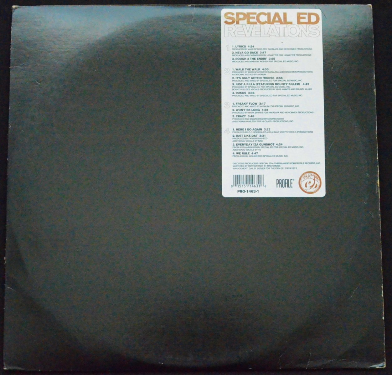 SPECIAL ED ‎/ REVELATIONS (2LP)