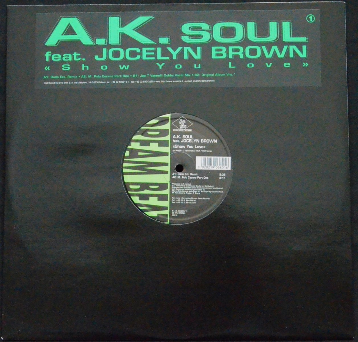 A.K. SOUL FEAT. JOCELYN BROWN ‎/ SHOW YOU LOVE (12