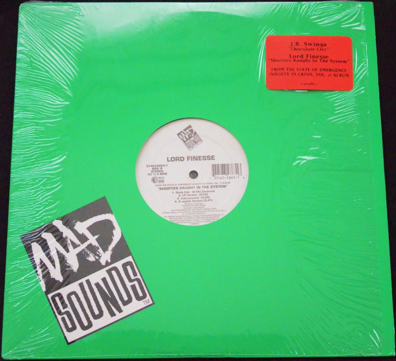 LORD FINESSE / J.R. SWINGA /  SHORTIES KAUGHT IN THE SYSTEM / CHOCOLATE CITY (12