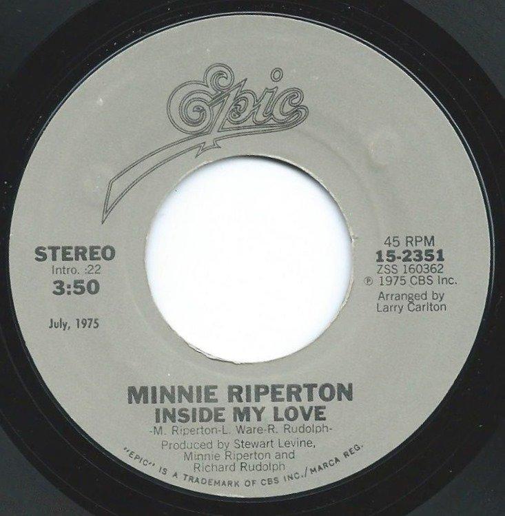 MINNIE RIPERTON / INSIDE MY LOVE / LOVIN' YOU (7