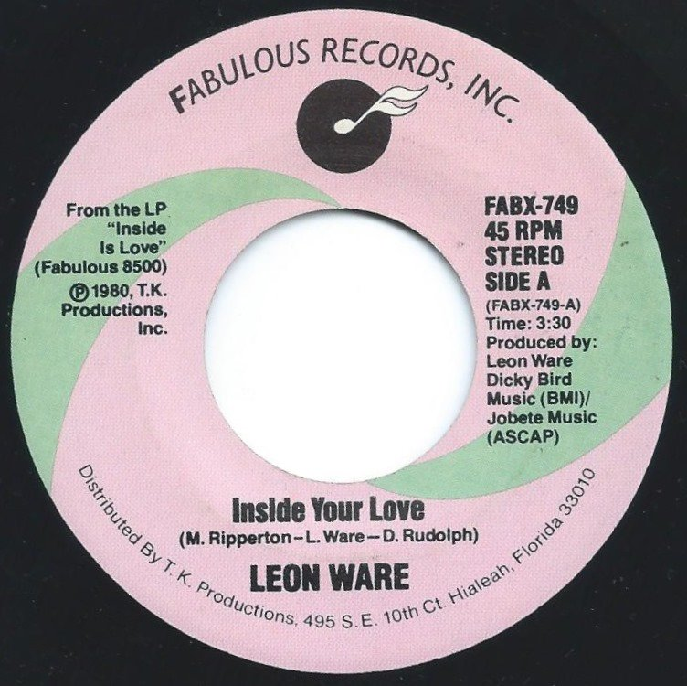 LEON WARE / INSIDE YOUR LOVE / HUNGRY (7