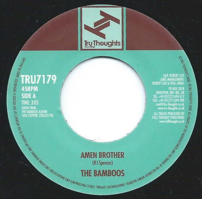 THE BAMBOOS / AMEN BROTHER / TEARS CRIED (7