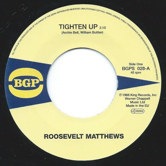 ROOSEVELT MATTHEWS / MARIE QUEENIE LYONS / TIGHTEN UP / SEE AND DON'T SEE (7