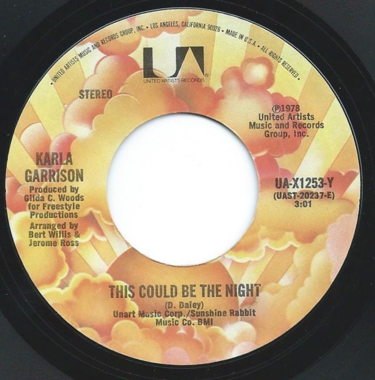 KARLA GARRISON / THIS COULD BE THE NIGHT / YOU TAUGHT ME HOW TO LOVE (7