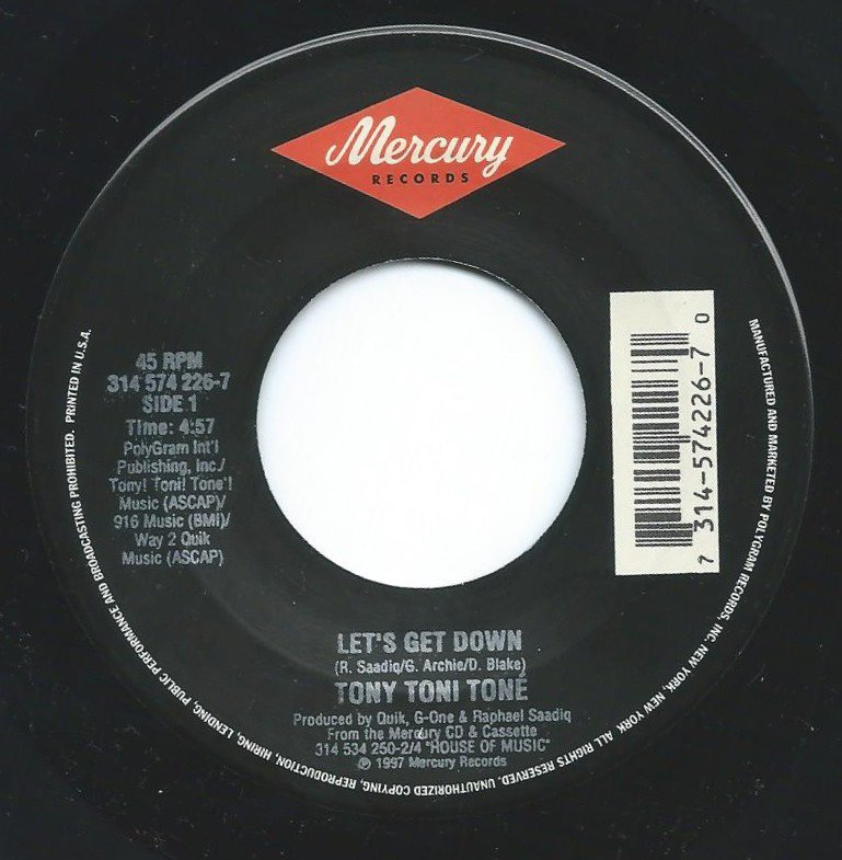 TONY! TONI! TONE! ‎/ LET'S GET DOWN / THINKING OF YOU (7