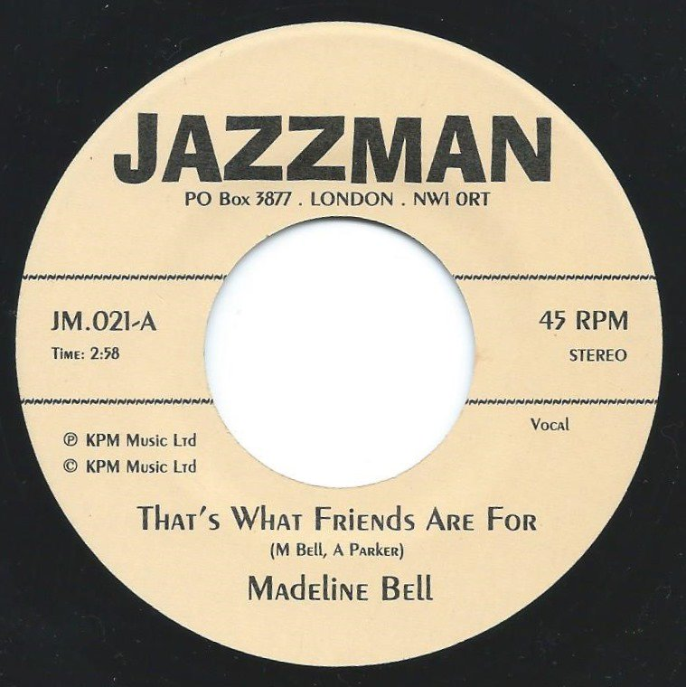 MADELINE BELL / ALAN PARKER ‎/ THAT'S WHAT FRIENDS ARE FOR (7
