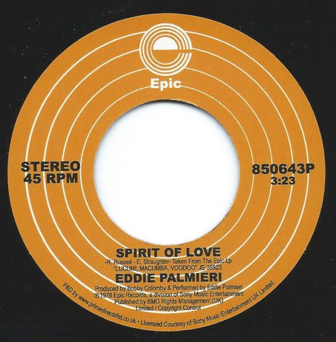EDDIE PALMIERI / SPIRIT OF LOVE / LUCUMI,MACUMBA,VOODOO (7