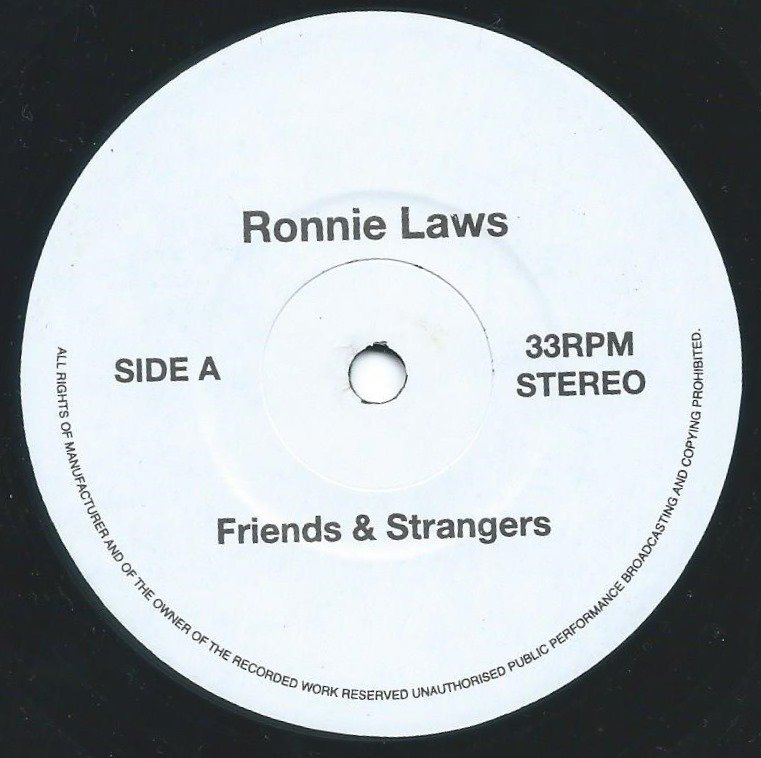 RONNIE LAWS / EARL KLUGH ‎/ FRIENDS & STRANGERS / LONG AGO AND FAR AWAY (7
