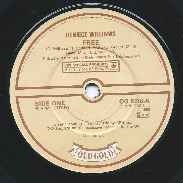 DENIECE WILLIAMS / FREE / THAT'S WHAT FRIENDS ARE FOR (7