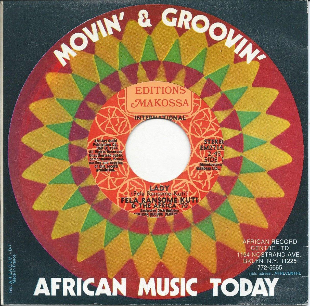 FELA RANSOME-KUTI & THE AFRICA '70 / LADY / SHAKARA OLOJE (7