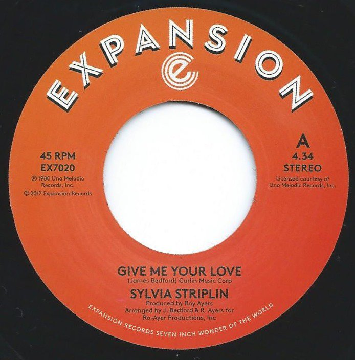 SYLVIA STRIPLIN / GIVE ME YOUR LOVE / YOU CAN'T TURN ME AWAY (7
