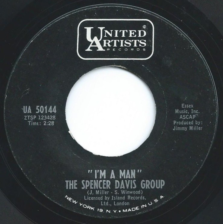 THE SPENCER DAVIS GROUP ‎/ I'M A MAN / I CAN'T GET ENOUGH OF IT (7