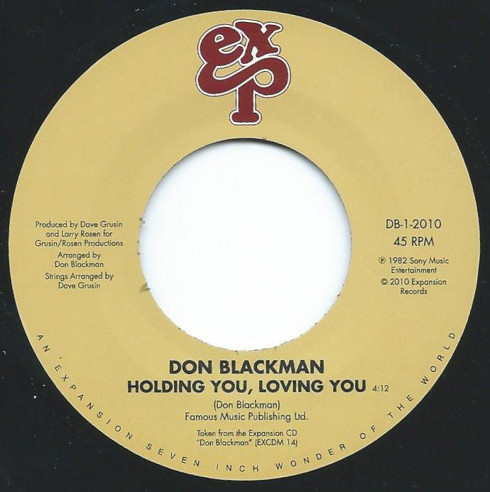 DON BLACKMAN / HOLDING YOU,LOVING YOU / HEART'S DESIRE (7