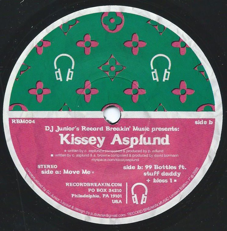 KISSEY ASPLUND ‎/ MOVE ME / 99 BOTTLES (7