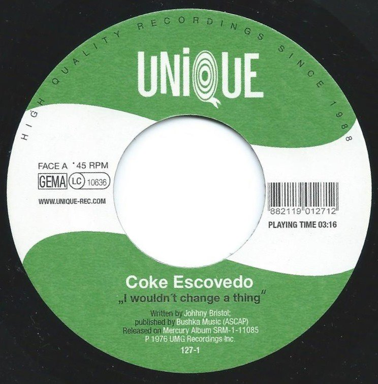 COKE ESCOVEDO / ELI GOULART E BANDA DO MATO ‎/ I WOULDN'T CHANGE A THING / MESTRE ANDRÉ (