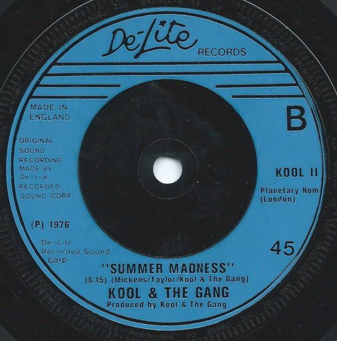 KOOL & THE GANG ‎/ SUMMER MADNESS (LIVE) / JONES VS JONES (7
