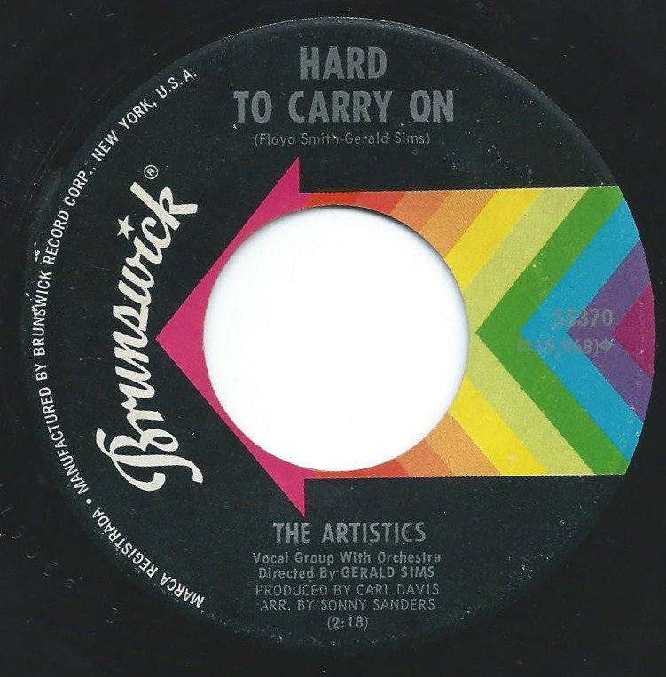 THE ARTISTICS / HARD TO CARRY ON / TROUBLE, HEARTACHE AND PAIN (7