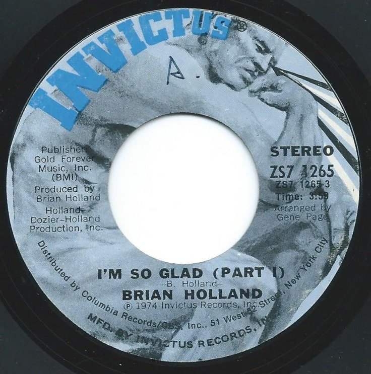 BRIAN HOLLAND / I'M SO GLAD (7
