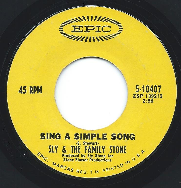 SLY & THE FAMILY STONE / EVERYDAY PEOPLE / SING A SIMPLE SONG (7
