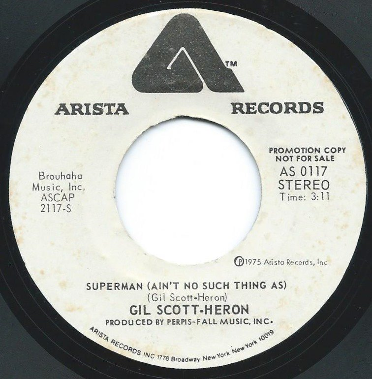 GIL SCOTT-HERON / SUPERMAN (AIN'T NO SUCH THING AS) (7