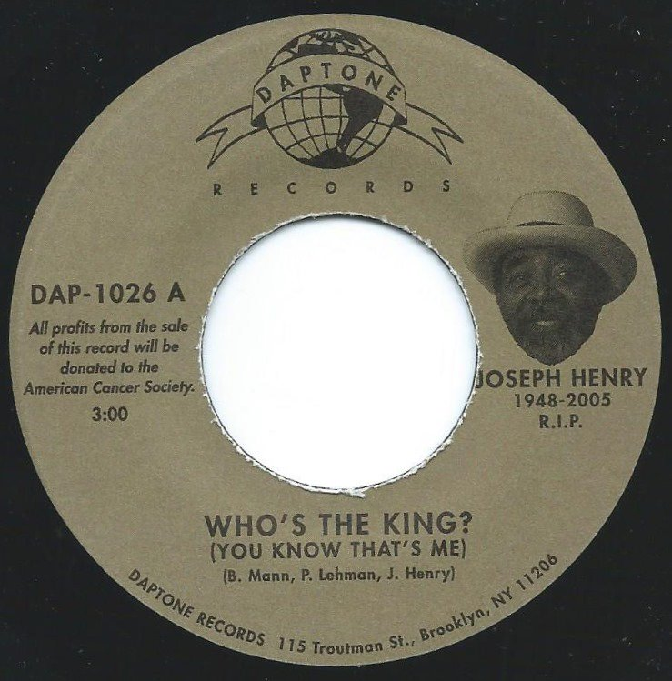 JOSEPH HENRY / WHO'S THE KING? (YOU KNOW THAT'S ME) / I FEEL RIGHT (7