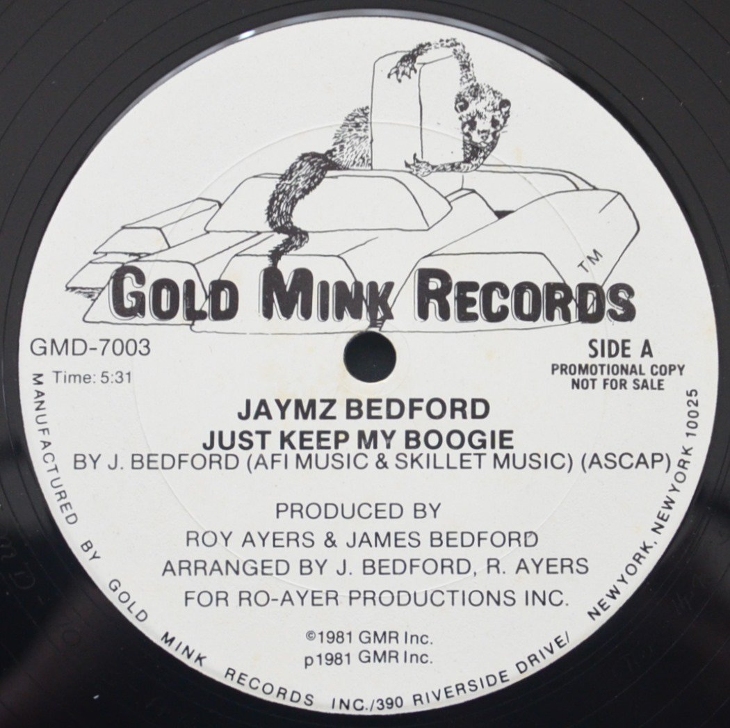 JAYMZ BEDFORD / JUST KEEP MY BOOGIE / HAPPY MUSIC (12