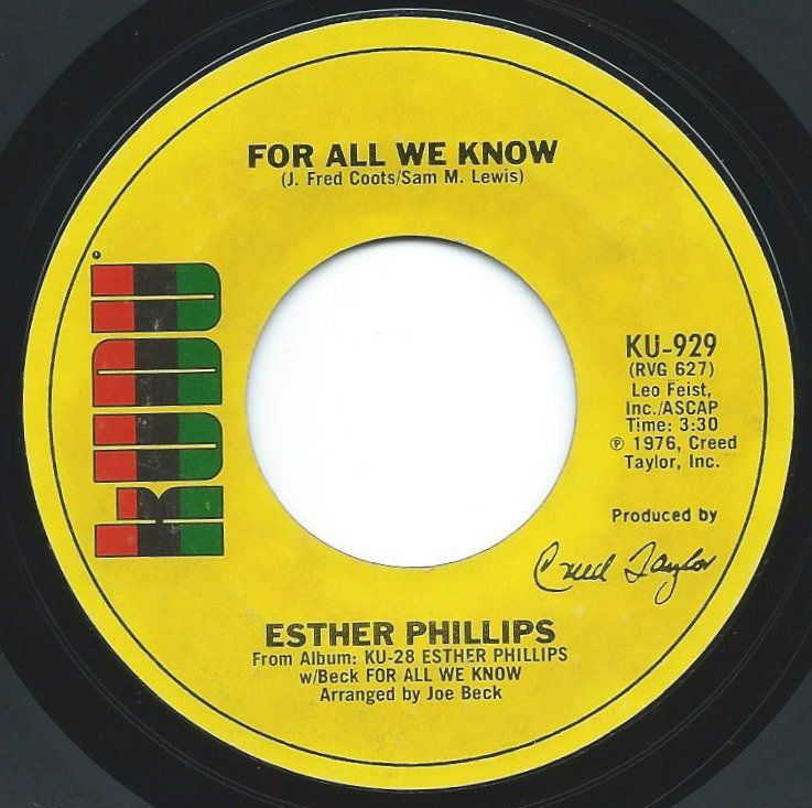 ESTHER PHILLIPS / FOR ALL WE KNOW / FEVER (7