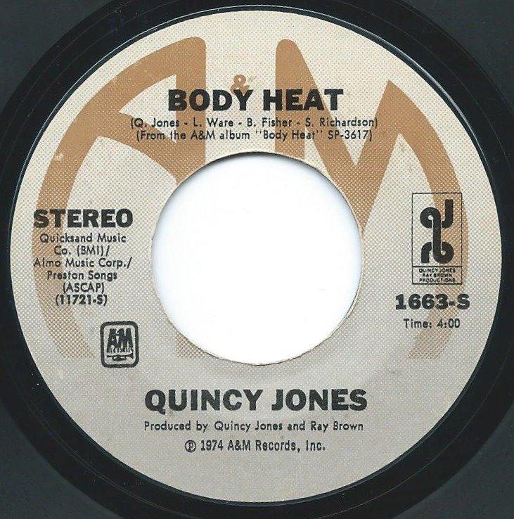 QUINCY JONES / BODY HEAT / ONE TRACK MIND (7