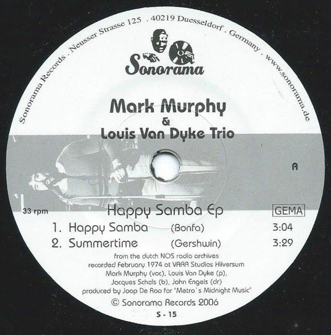 MARK MURPHY & LOUIS VAN DYKE TRIO / HAPPY SAMBA EP (7
