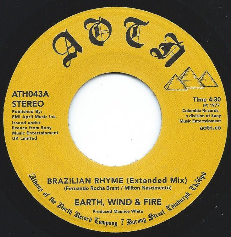 EARTH, WIND & FIRE / BRAZILIAN RHYME (EXTENDED MIX) / MY LOVE (7